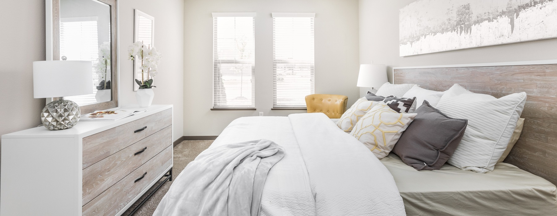 Large bright bedroom